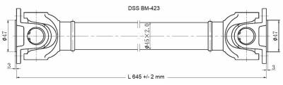 DSS - Drive Shaft Assembly BM-423