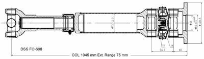 DSS - Drive Shaft Assembly FO-608