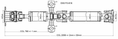 DSS - Drive Shaft Assembly FO-618