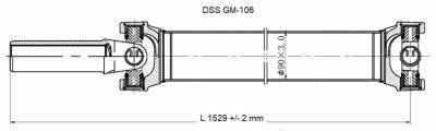 DSS - Drive Shaft Assembly GM-106