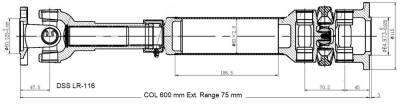 DSS - Drive Shaft Assembly LR-116