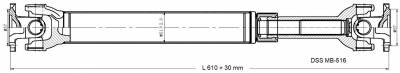 DSS - Drive Shaft Assembly MB-516