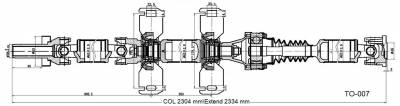 DSS - Drive Shaft Assembly TO-007