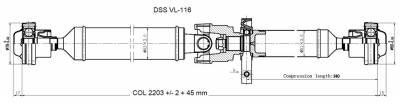 DSS - Drive Shaft Assembly VL-116