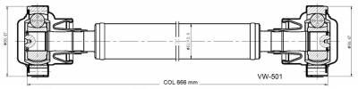 DSS - Drive Shaft Assembly VW-501