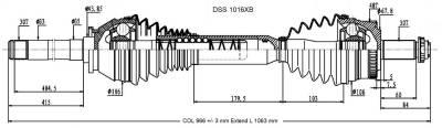 DSS - High Performance CV Axle Shaft 1016XB - Image 2